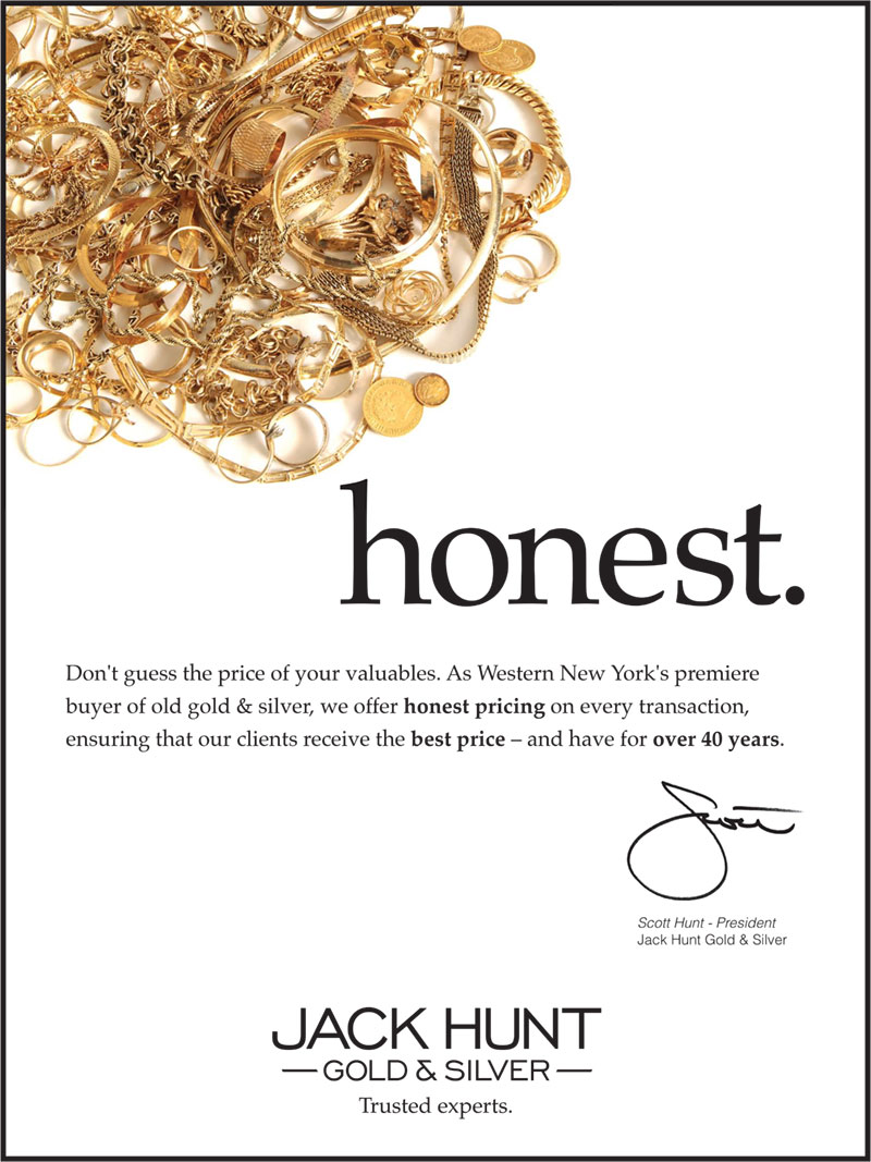 One of a set of three poster for Jack Hunt Gold & Silver, promoting one of their core values: honest