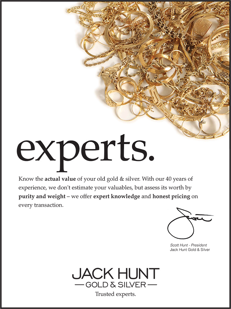 One of a set of three poster for Jack Hunt Gold & Silver, promoting one of their core values: experts