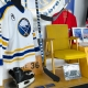 The Sabres' 40th Anniversary exhibit at the HSBS arena paired hockey artifacts and memorabilia with ID cards and information panels that narrate the display