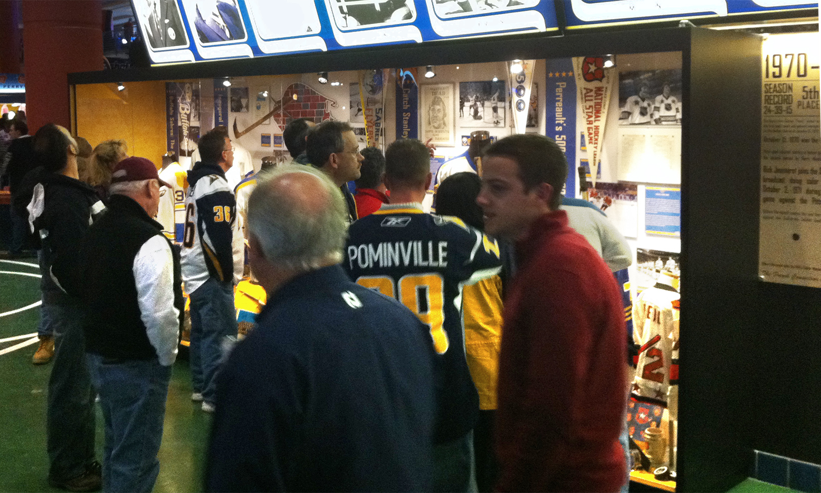 The Sabres 40th Anniversary public exhibit opens to excited fans